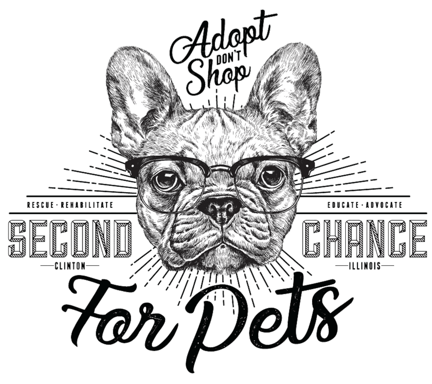 Second chance for pets. Adopt dont shop. Rescue, rehabilitate, educate, advocate. Clinton Illinois.